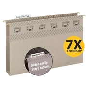 "Smead® TUFF® Hanging Box Bottom Folder with Easy Slide Tab, 2"" Expansion, Legal Size, Steel Gray, 18/Box (64340)"