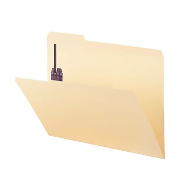 Smead® Fastener File Folder with SafeSHIELD®, 2 Fasteners, Reinforced 1/3-Cut Tab, Letter Size, Manila, 50/Box (14555)