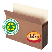 Smead® 100% Recycled Top Tab File Pockets, Redrope, Letter, 10/Box (73206)