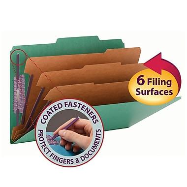 Smead® Pressboard Classification Folder with SafeSHIELD® Fasteners, 3 Dividers, 3