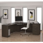 BESTAR Embassy Corner Desk, Dark Chocolate (60899-79)