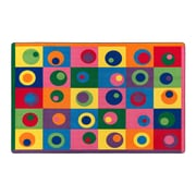 """Flagship Carpets Nylon, Silly Circles, 7'6""""x12' Multi-Colored Rug (FE119-44A)"""