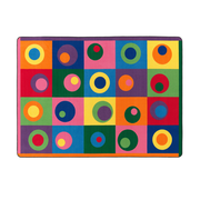"Flagship Carpets Nylon, Silly Circles, 5'10""x8'4"" Multi-Colored Rug (FE119-32A)"
