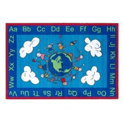 Flagship Carpets Nylon, Happy World, 4'x6' Multi-Colored Rug (CE189-22W)