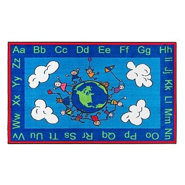 Flagship Carpets Nylon, Happy World, 3'x5' Multi-Colored Rug (CE189-16W)
