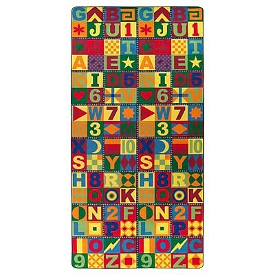 Flagship Carpets Nylon, Floors That Teach, 6'x12' Multi-Colored Rug (FE148-42A)