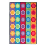 "Flagship Carpets Nylon, Dot Spots, 7'6""x12' Multi-Colored Rug (FE118-44A)"