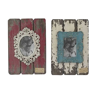 Sagebrook Home 2 Piece Wood Picture Frame Set