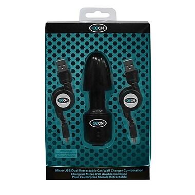 Goon – Chargeur USB double combiné rétractable 99314 pour téléphones intelligents, 5 x 2 x 8 (po), 50 gr