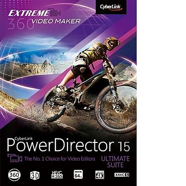 CyberLink – Montage vidéo PowerDirector 15 Ultimate, [téléchargement]