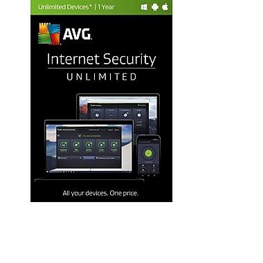 AVG - Internet Security 2017, illimité, 1 an [téléchargement]