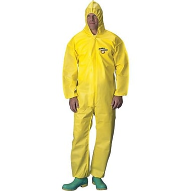 Lakeland Coverall Chemmax 1 Hooded Ylw Elast Small, 6/Pack (C1B428-SY)