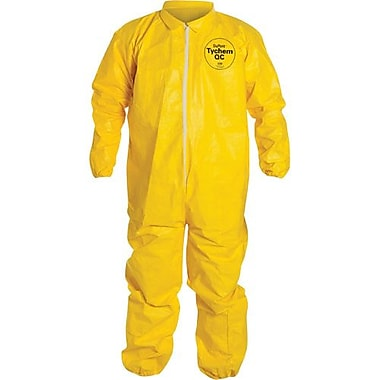 Dupont Personal Protection Coverall Tychem Qc with Elastics Yellow Lg, 6/Pack (QC125S-L)