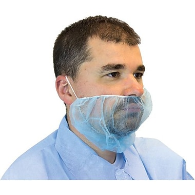 The Safety Zone Blue Polypropylene Beard Cover, 1000/Pack (DBRD-1000BL)