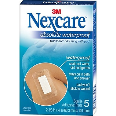 3M Tegaderm with Pad - Waterproof, Transparent, 60/Pack (7000136261)