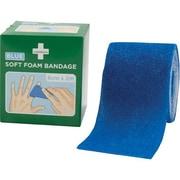 Safecross – Pansement en mousse souple, bleu, 2,5 po x 2,5 vg, 3/paquet (7815)