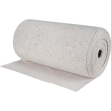 Zenith Safety Products – Rouleau absorbant en fibre naturelle laminée pour huile, 28 po x 150 pi, poids moyen