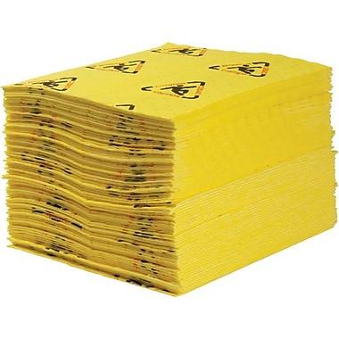 SPC – Tampon absorbant Maxx pour matières dangereuses, 15 x 19 po, 30 gal/paquet, 100/paquet (CH100)