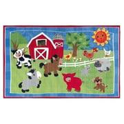 Flagship Carpets Cutie Barnyard Kids Rug