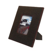 Arcadia Home Felt Covered Picture Frame; Chocolate/Red