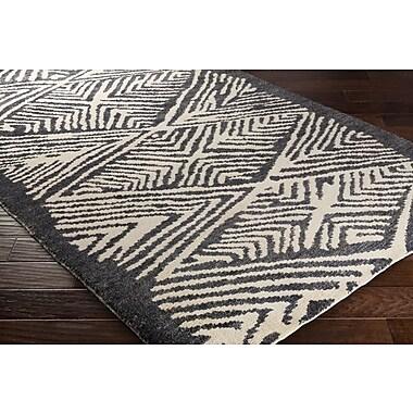 Jill Rosenwald Rugs Orinocco Hand-Woven Black/Beige Area Rug; 8' x 10'