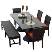 TK Classics Napa 6 Piece Dining Set w/ Cushions; Terracotta