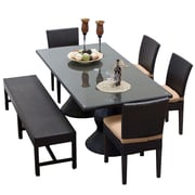 TK Classics Napa 6 Piece Dining Set w/ Cushions; Wheat