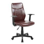 United Chair Industries LLC Mid-Back Desk Chair; Brown