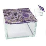 Sagebrook Home Agate Top Box; Purple