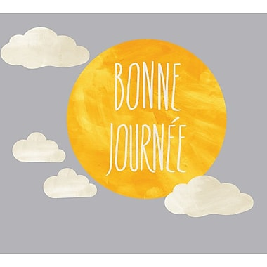 Eco Wall Decals 5 Piece Bonne Journee Wall Decal Set; Dark Yellow