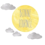 Eco Wall Decals 5 Piece Bonne Journee Wall Decal Set; Light Yellow