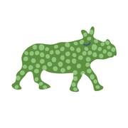 Eco Wall Decals Rhino Wall Decal; Green