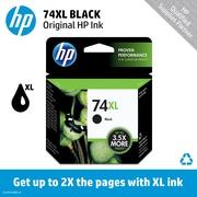HP 74XL Black Ink Cartridge (CB336WN), High Yield
