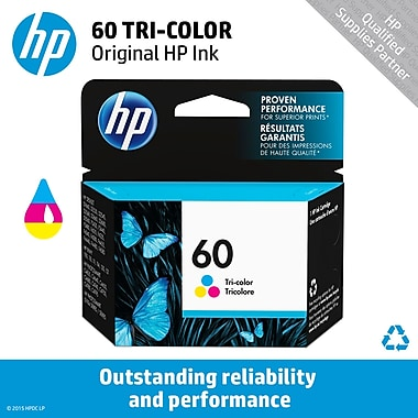 HP 60 Tricolor Ink Cartridge (CC643WN)