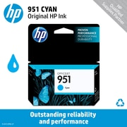 HP 951 Ink Cartridge, Cyan (CN050AN)