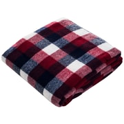 Lavish Home Cashmere-like Throw Blanket, Red/Blue/White