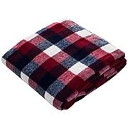Lavish Home Cashmere-like Throw Blanket, Red/Blue/White