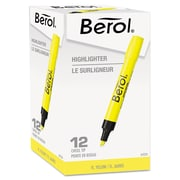 Berol® 4009® Highlighter, Chisel Tip, Fluorescent Yellow, 12/pk (64324)