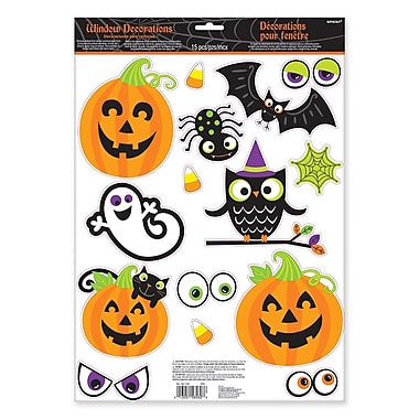 Amscan Family Friendly Window Decoration, 6/Pack (241148)