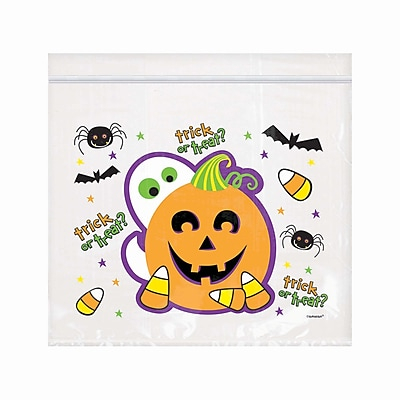 Amscan Spooktacular Re-sealable Cello Bag, 6.5