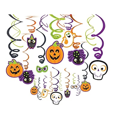 Amscan Friendly Halloween Foil Swirl Decoration, 2/Pack, 30 Per Pack (670459)