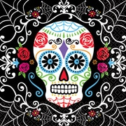 """Amscan Day of the Dead Beverage Napkins, 5"""" x 5"""", 3/Pack, 36 Per Pack (701519)"""