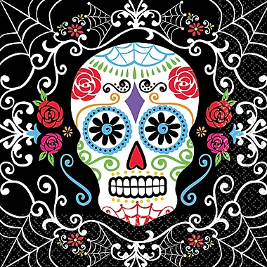 Amscan Day of the Dead Lunch Napkin, 6.5