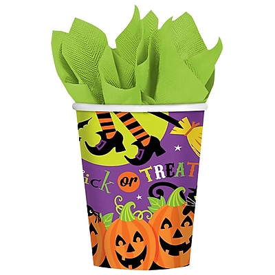 Amscan Witch's Crew Paper Cup, 9oz, 3/Pack, 18 Per Pack (731518)