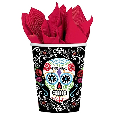 Amscan Day of the Dead Paper Cup, 9oz, 3/Pack, 18 Per Pack (731519) 2465750