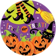 """Amscan Witchs Crew Paper Plate, 7"""" x 7"""", 3/Pack, 18 Per Pack (741518)"""