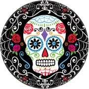 "Amscan Day of the Dead Paper Plate, 7"" x 7"", 3/Pack, 18 Per Pack (741519)"