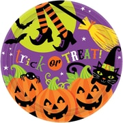 """Amscan Witchs Crew Paper Plate, 9"""" x 9"""", 3/Pack, 18 Per Pack (751518)"""