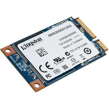 Kingston® SSDNow ms200 mSATA Internal Solid State Drive, 120 GB (SMS200S3/120G)