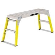 Louisville Fiberglass Mini Working Platform Step Stool, 300 Lb Cap, Yellow